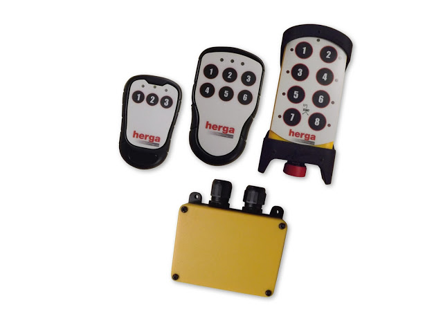 Wireless remote control system: Herga adds 2.4 GHz transmitter/receiver system for industrial control applications