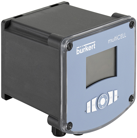 Bürkert's multiCELL Transmitter/Controller type 8619 with new housing and optional 110/230 VAC supply