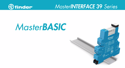 New 39 Series MasterINTERFACE Interface Relays from Finder