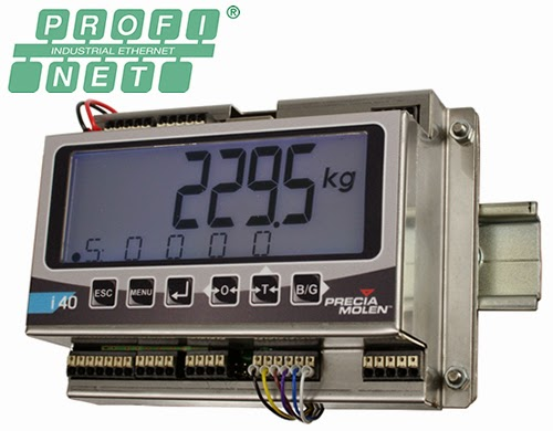 i40 Weighing Indicators from Precia Molen now with PROFINET communication option