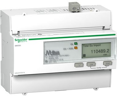 Acti 9 iEM3000 series meters from Schneider Electric now available for direct connection in 125 A circuits