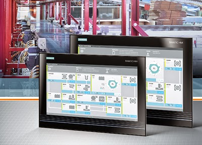 Gesture and multi-touch operation of machines and plants by Siemens