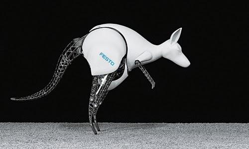 Festo's BionicKangaroo - energy-efficient jump kinematics based on a natural model