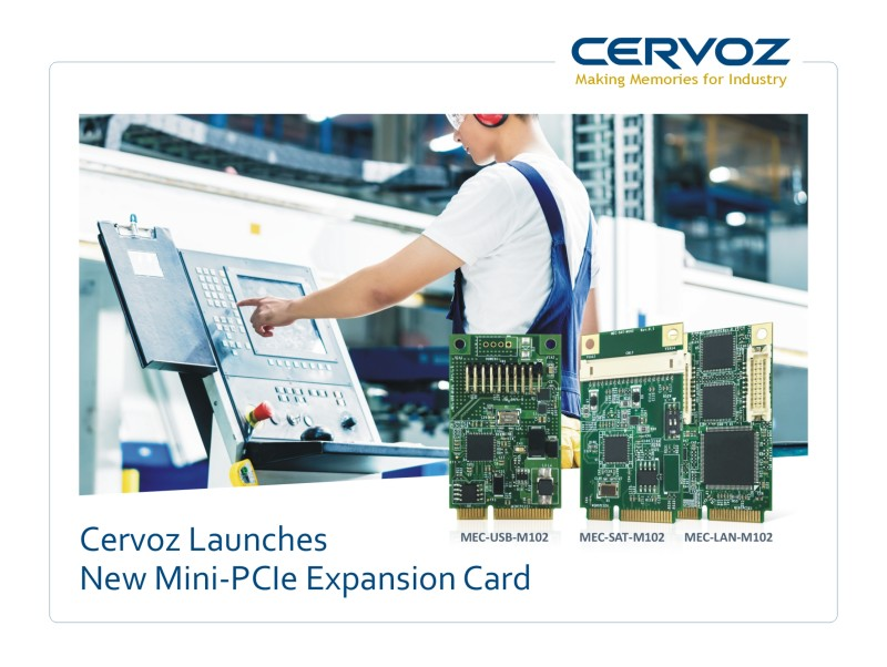 Cervoz Launches New Mini-PCIe Expansion Card
