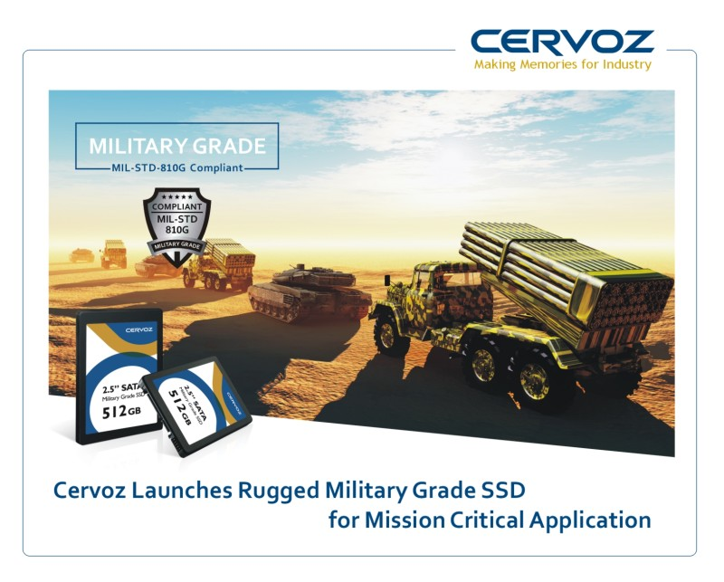 Cervoz launches Rugged Military Grade SSD for Mission Critical Application