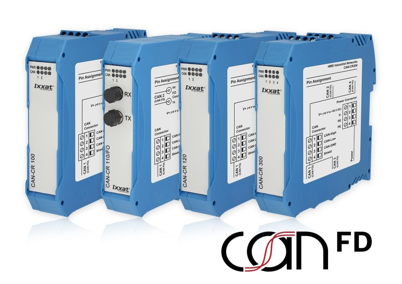 New Ixxat Repeater series for CAN FD as well as CAN