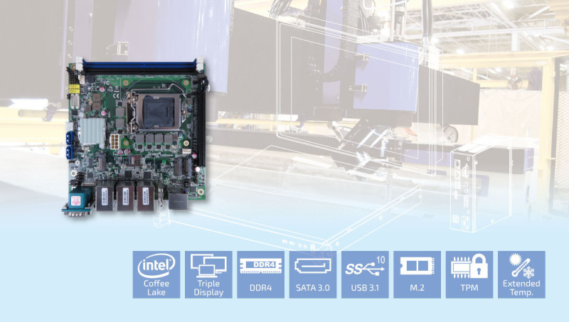 Quanmax New Coffee Lake Refresh Mini-ITX Motherboard Enables More Possible Embedded Applications