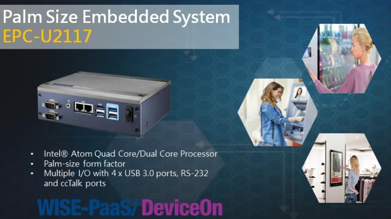 Advantech Launches Palm Size Embedded System EPC-U2117