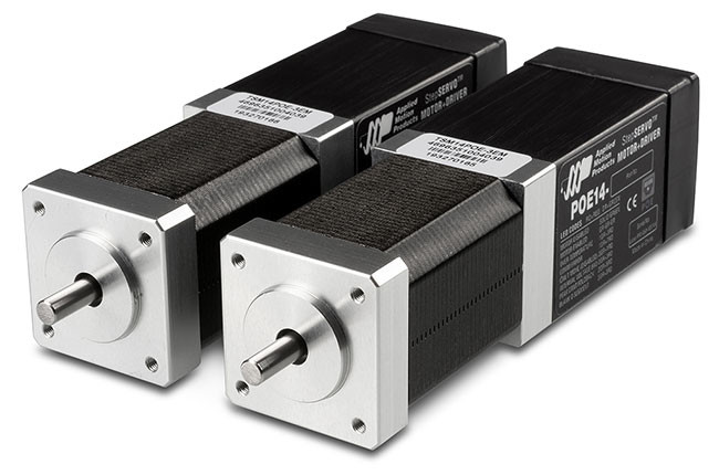 Applied Motion's Integrated Motors with Power over Ethernet (PoE)