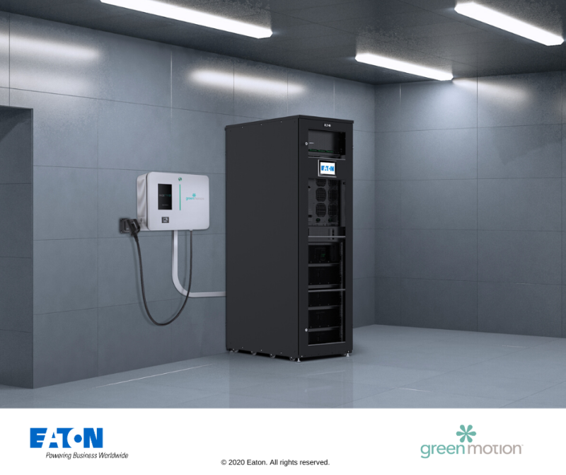Eaton and Green Motion join forces to smoothly integrate EV Chargers in buildings with Energy Storage