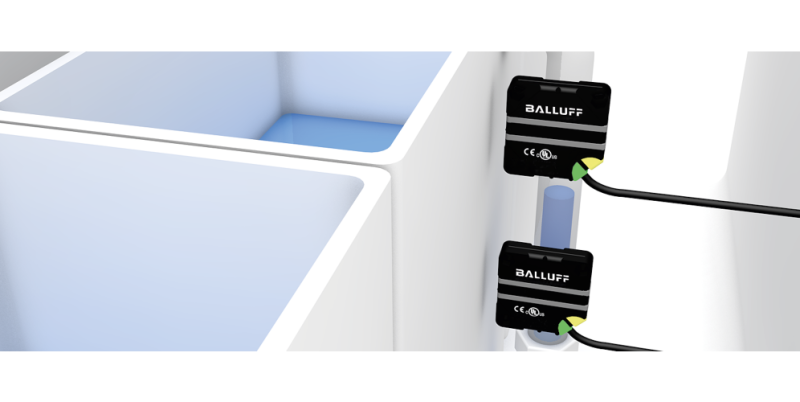 Balluff's Capacitive Smart Level Sensors in Block-Style – Now Also with IO-Link