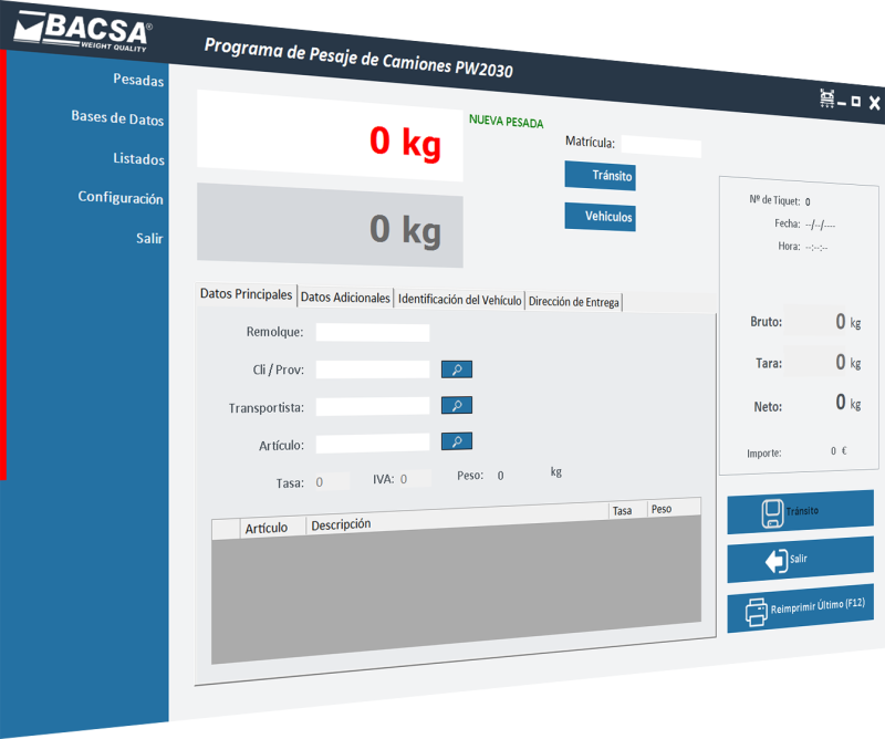 New Multi-Language Truck Scale Management Software PW2030 by BACSA
