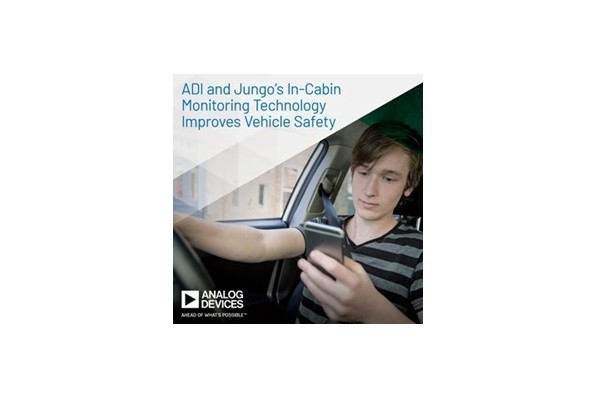 Analog Devices and Jungo Cooperate on In-Cabin Monitoring Technology to Improve Vehicle Safety