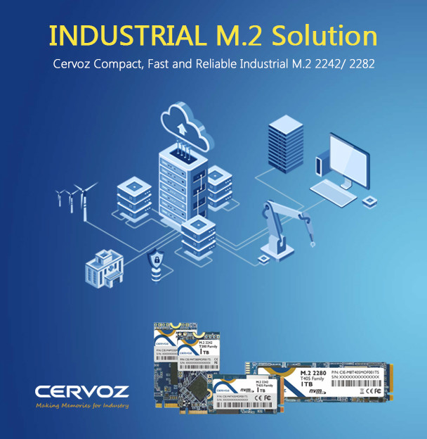 Cervoz Compact, Fast and Reliable Industrial M.2 Solution