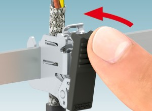 Phoenix Contact Shield Clamps for one-handed tool-free operation