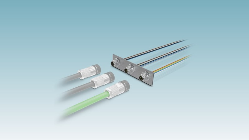 Phoenix Contact M12 Connectors with push-pull locking