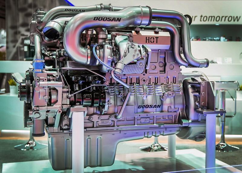 Doosan Infracore launches the 'Euro 6' electronic engine to target commercial vehicles