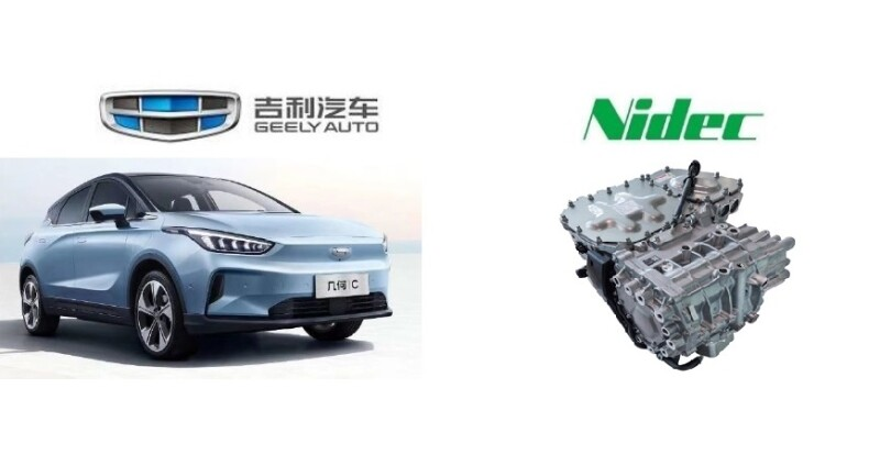 Geely's New EV Adopts Nidec's E-Axle Traction Motor System