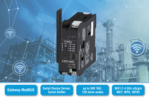 WLAN solution for industrial plants and machinery - New compact & multifunction gateway with Wi-Fi module