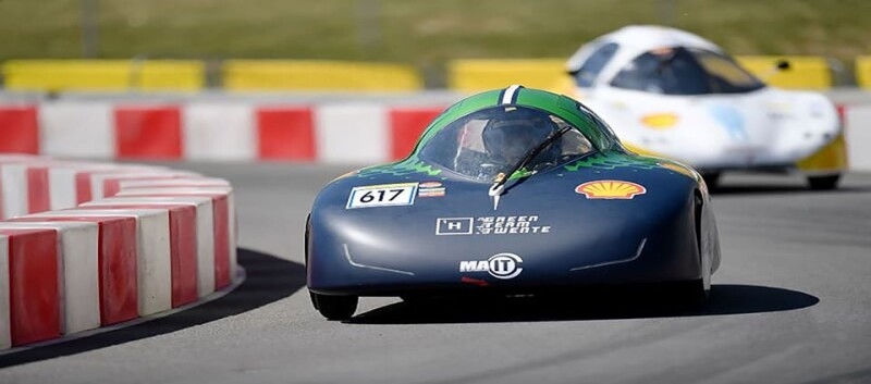 Hydrogen car drives for efficiency world record