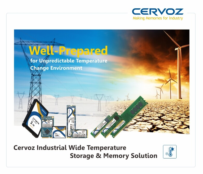 Cervoz Industrial Wide Temperature Storage & Memory Solution