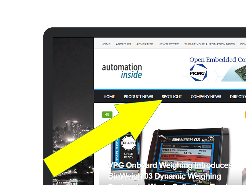 New Section on Automation Inside Portal – Spotlight Products