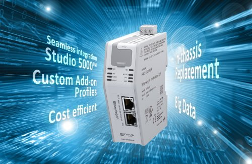 New EtherNet/IP Linking Device from HMS enables highly integrated communication between Rockwell Automation PLCs and devices on Modbus-TCP