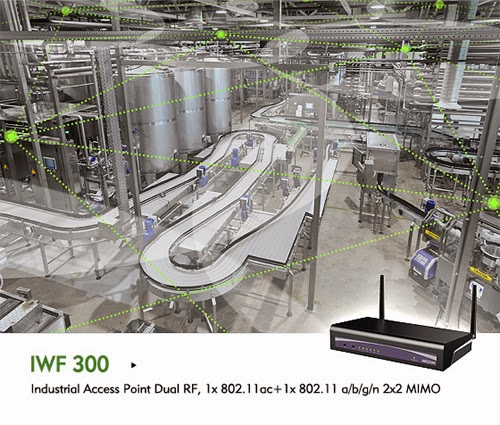 NEXCOM's IWF 300 Spans Industrial Wi-Fi Mesh Networks across Factory Floors through Obstacles