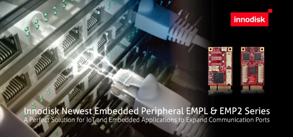 Innodisk Expands Embedded Peripheral Series with Communication Modules, for IoT and Embedded Applications