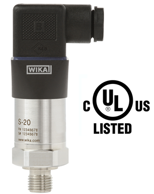 WIKA's New S-20 Pressure Transmitter is UL listed