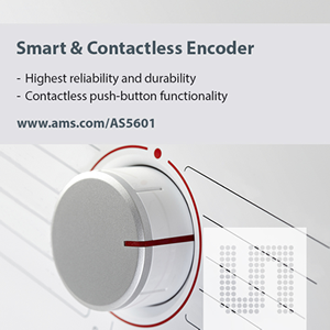 New Contactless Position Sensor from ams provides reliable, software-compatible replacement for Rotary Encoders